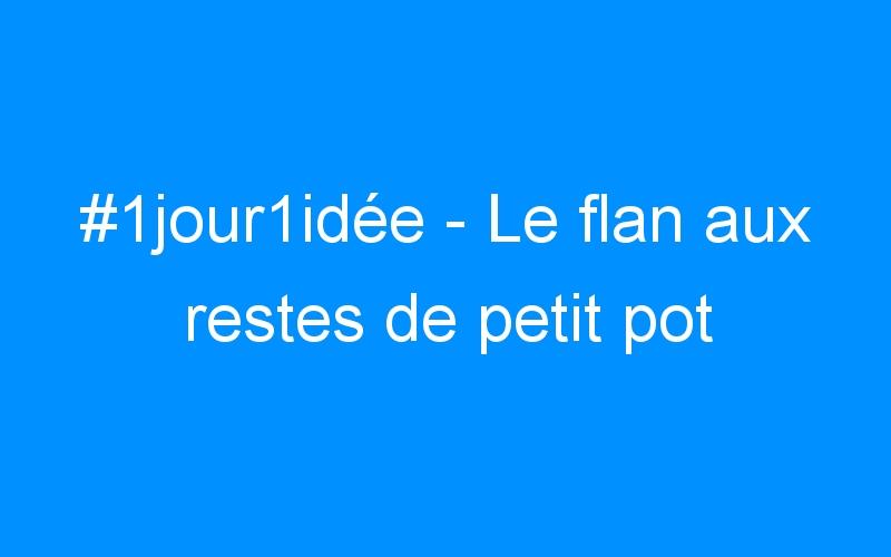 #1jour1idée – Le flan aux restes de petit pot