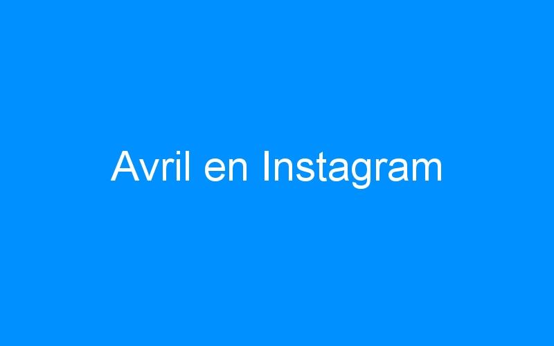 Avril en Instagram