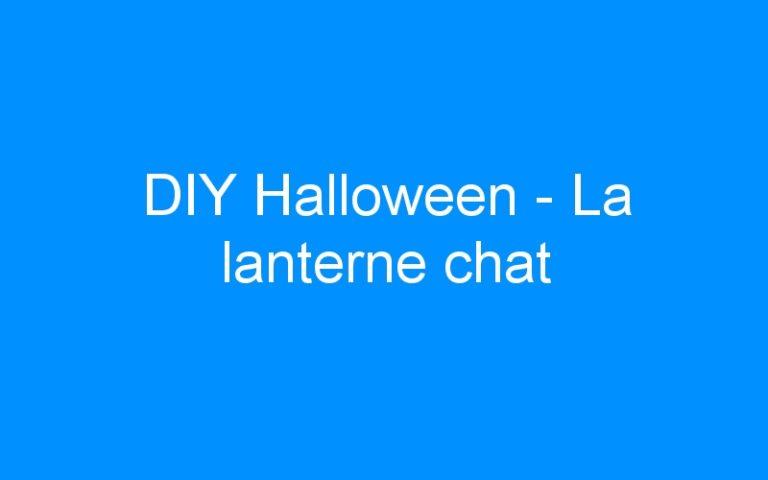 DIY Halloween – La lanterne chat
