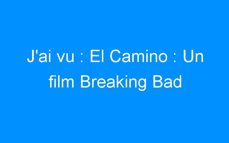 J'ai vu : El Camino : Un film Breaking Bad