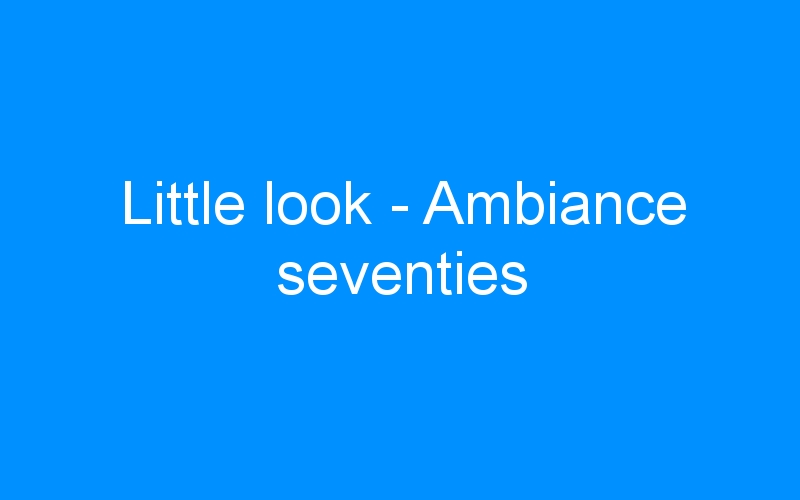 Little look – Ambiance seventies