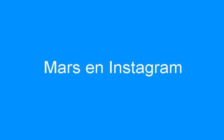 Mars en Instagram