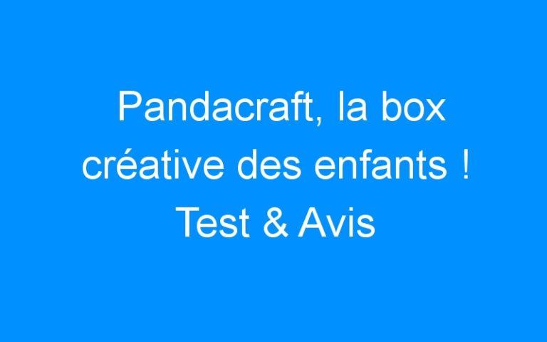 Pandacraft, la box créative des enfants ! Test & Avis