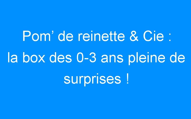 Pom' de reinette & Cie : la box des 0-3 ans pleine de surprises ! (concours)