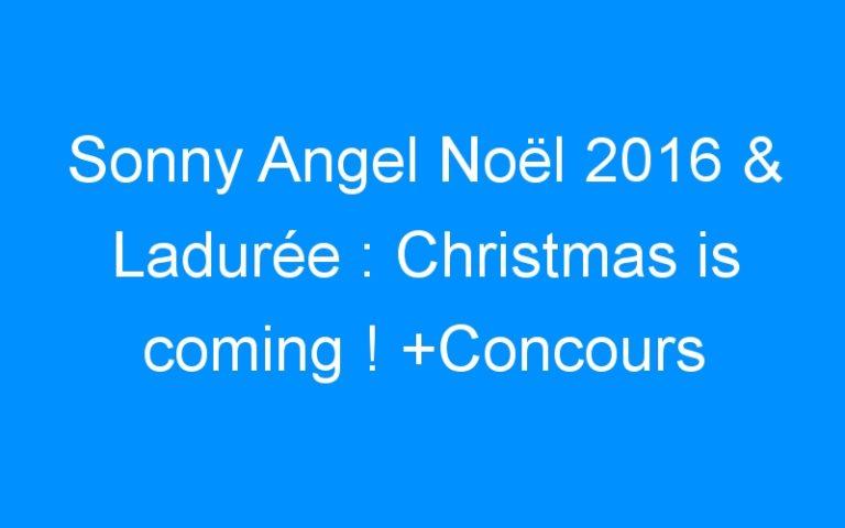 Sonny Angel Noël 2016 & Ladurée : Christmas is coming ! +Concours