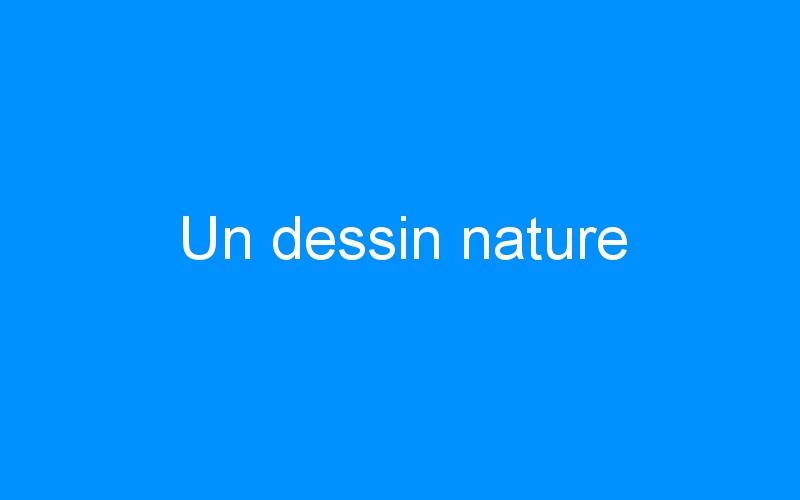 Un dessin nature