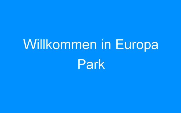 Willkommen in Europa Park
